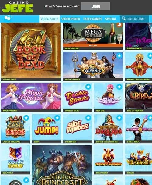 Casino JEFE Review   11 no deposit FS + €275 bonus or 252 free spins