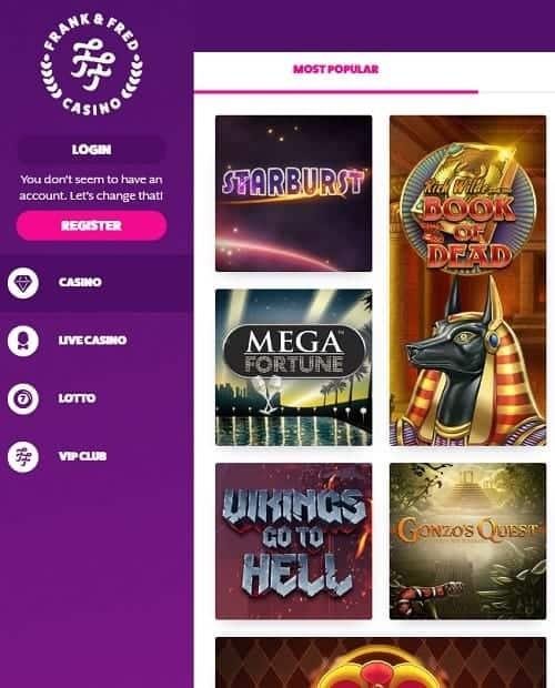 FrankFred.com Online Casino Review