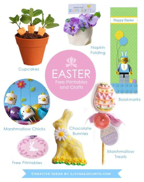 25 Easter Crafts, Fun Food Ideas and Free Printables by Living Locurto