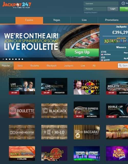 Jackpot 247 Casino Review