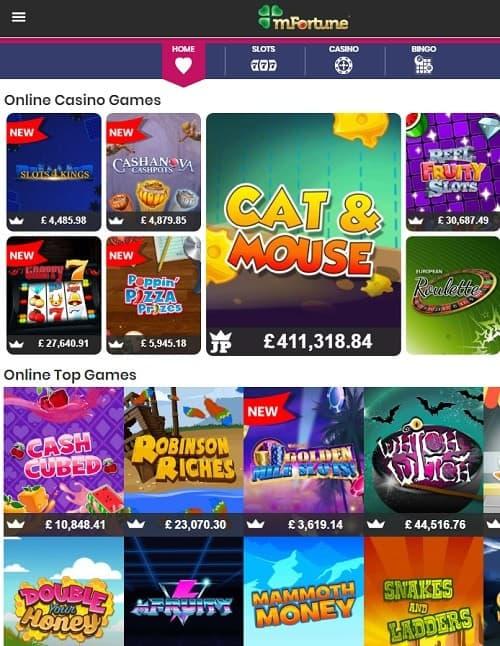 mFortune Casino big winners