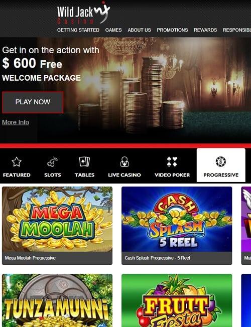 Wild Jack Casino free spins bonus