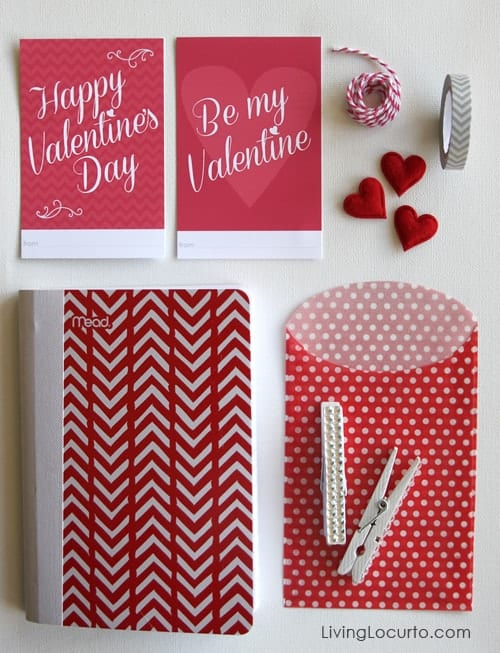 Easy Valentine's Day Gift Idea with Free Printables. DIY Craft  LivingLocurto.com