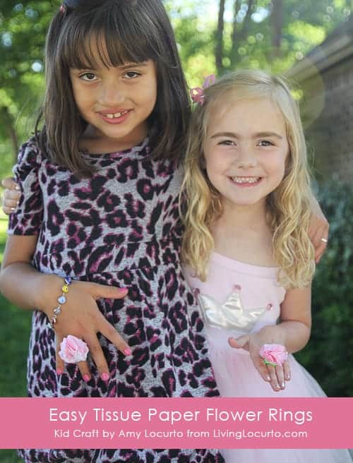 Easy Tissue Paper Ring Craft for Kids by Amy Locurto   Living Locurto Summer Craft Ideas