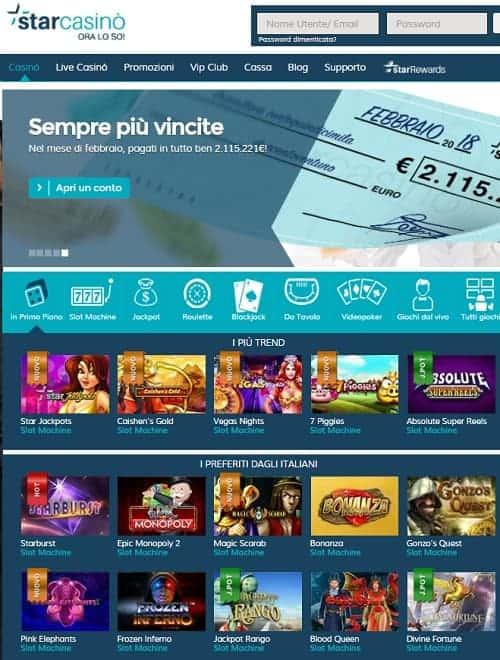 Star Casino Italy free spins