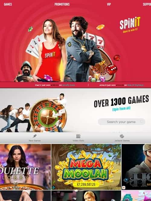 Spin It Casino free spins bonus