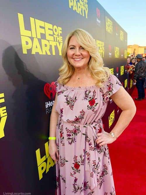 Life of the Party Movie Premiere Red Carpet Amy Locurto from Living Locurto DIY Lifestyle Food Party Blogger from Texas