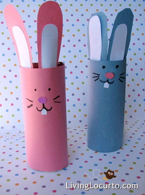 Easter Paper Crafts for Kids {Toilet Paper Roll Craft}