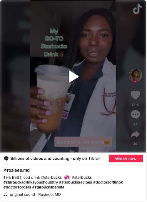 Cinnamon Nut Crunch Expresso Starbucks drink on TikTok