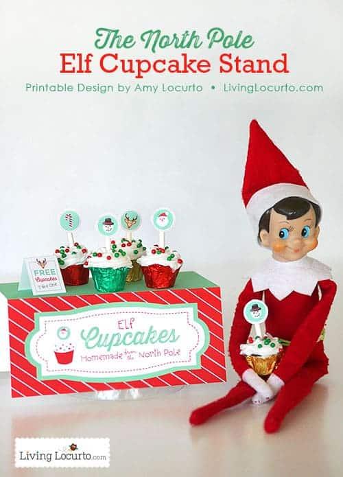 Elf on the Shelf Cupcake Stand Printables. LivingLocurto.com