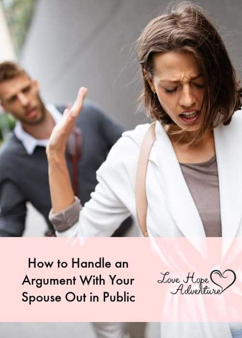 How to Handle an Argument With Your Spouse Out in Public