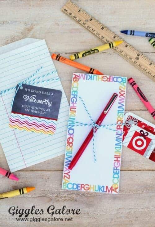 Back to School Free Printable Teacher Gift Tags