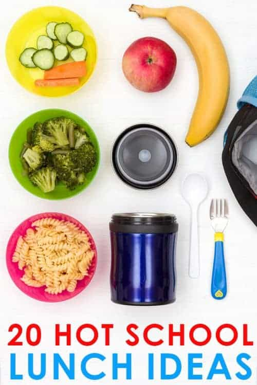 20 Easy Hot School Lunch Ideas for Kids! How to keep food hot in a Thermos and simple back to school lunch tips for kids who don't like sandwiches.