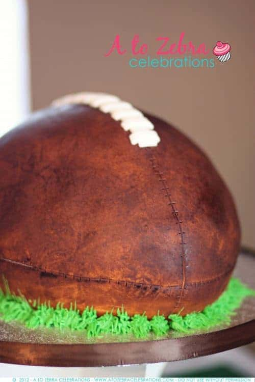 Football Cake | Fantasy Football Party ideas | Living Locurto
