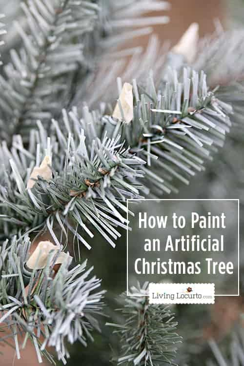 How to Paint a Christmas Tree - White Christmas Tree Challenge. Easy craft tutorial for painting an artificial Christmas tree a different color.