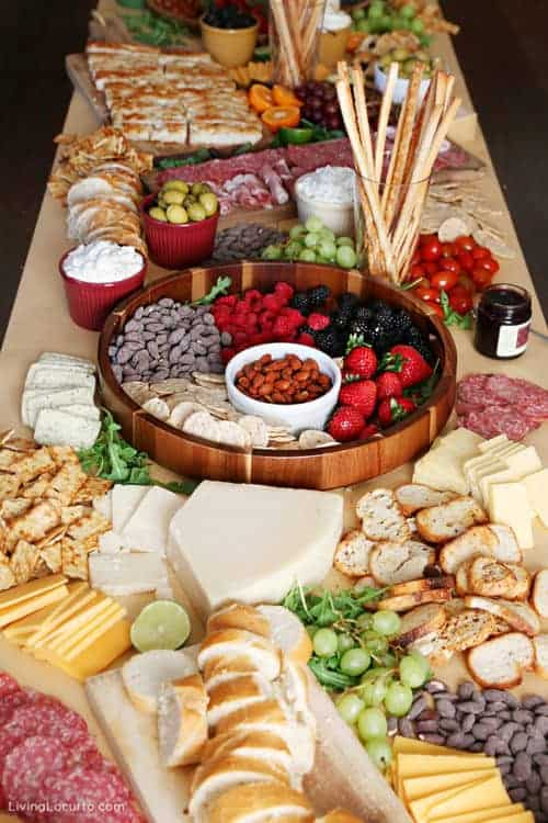 Charcuterie Board Ideas - Meat Cheese Fruit Table - Easy Party Recipe Living Locurto