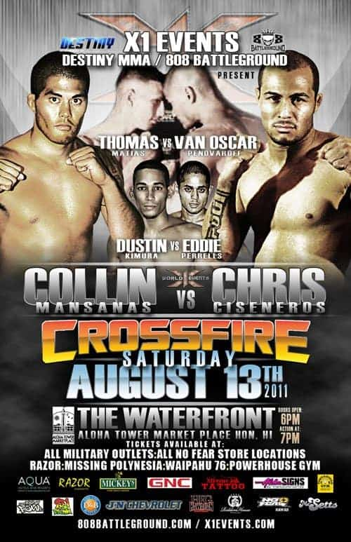 X1#38: Crossfire (Aug 13,2011) Fight Results