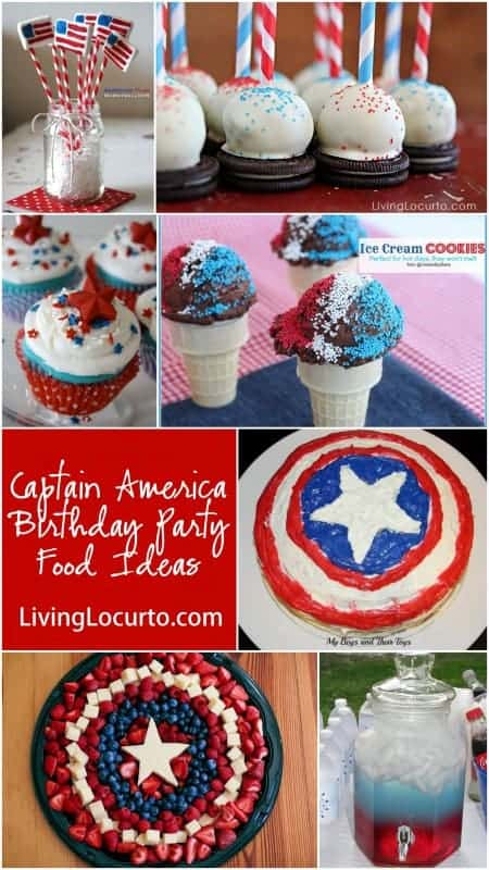 Captain America Birthday Party Food Ideas at LivingLocurto.com