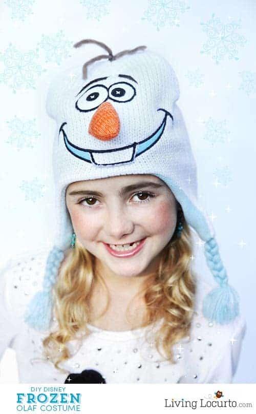 DIY Disney Frozen Olaf Halloween Costume. Super cute and easy! LivingLocurto.com