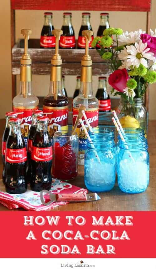 Graduation Party Ideas - Make a DIY Soda Bar - Kids will love it!