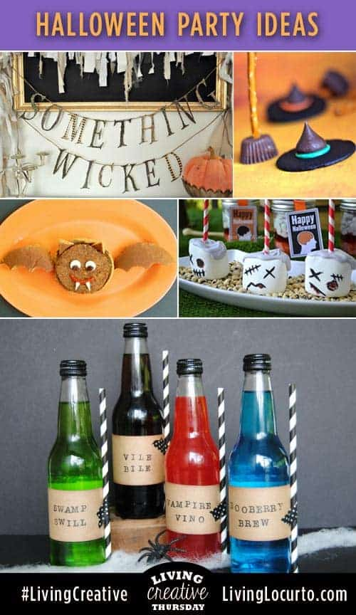 Spooky recipes and free printables for a great Halloween Party! #LivingCreative Thursday Featured Ideas at LivingLocurto.com