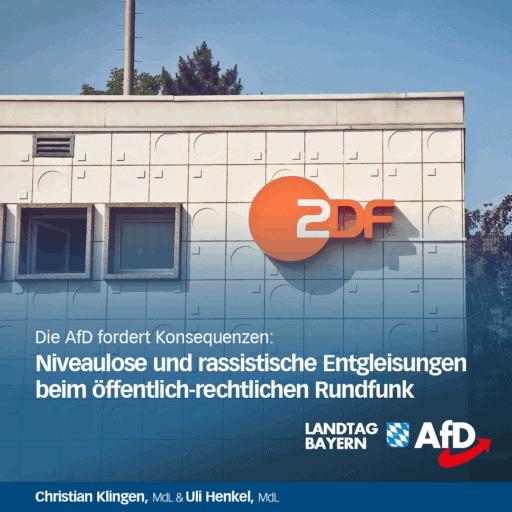 Pressemeldung Christian Klingen - Niveaulose und rassistische Entgleisungen beim öffentlich-rechtlichen Rundfunk