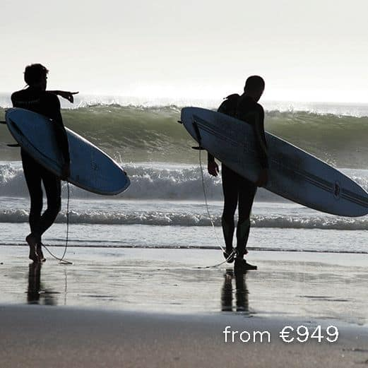 guided surf retreat