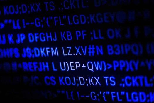 Closeup of programming code and language