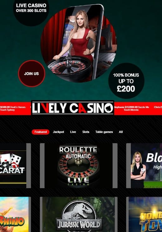 Lively Casino Free Spins