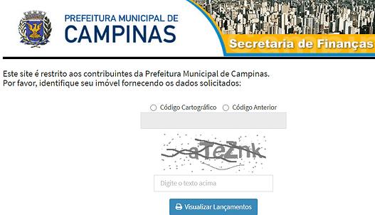 Consulta IPTU- Campinas SP