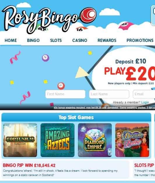 Rosy Bingo Casino UK