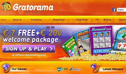 Gratorama Casino $7 free bonus - no deposit needed