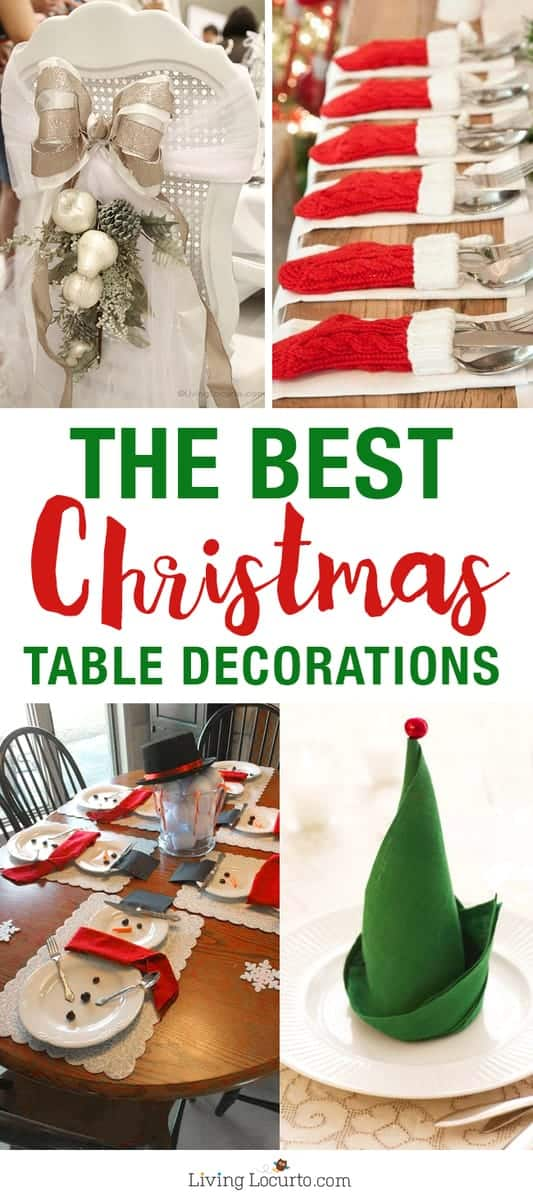 Best Christmas Table Decorations - Easy Holiday home crafts