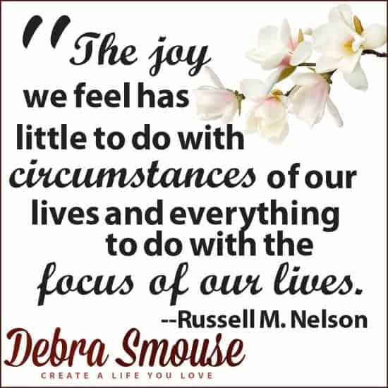 Choose to be Happy Quote (Russell Nelson)