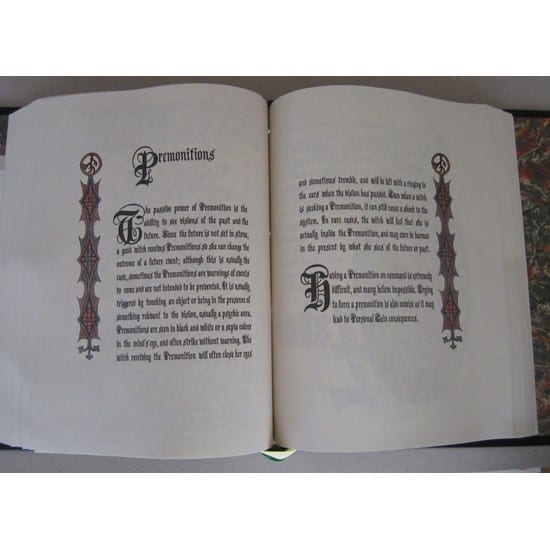 Charmed Book of Shadows Spell Pages