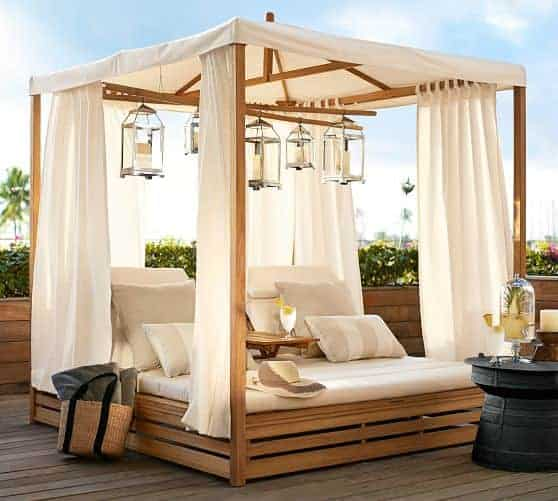 15 Beautiful Outdoor Patio Beds - Outdoor home decorating ideas.