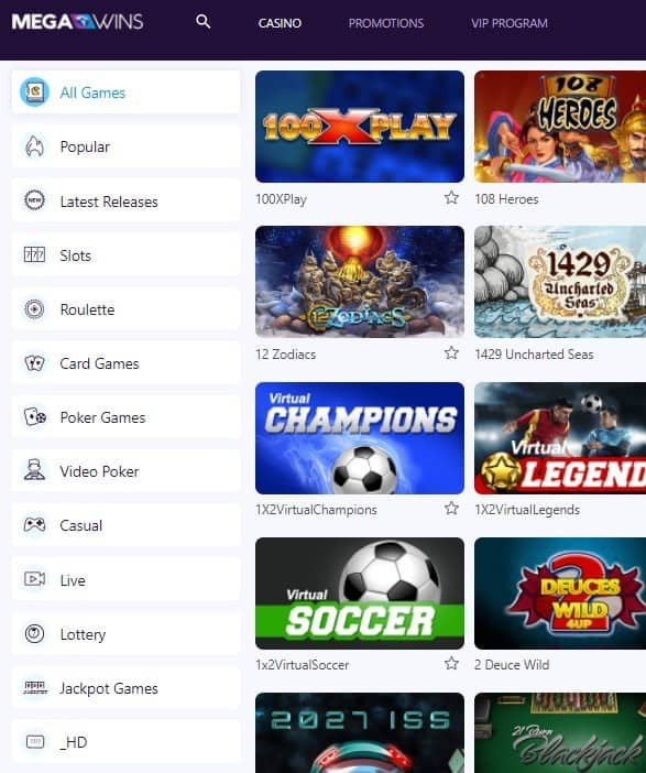 MegaWins.com Free Games by SoftSwiss (Direx NV)