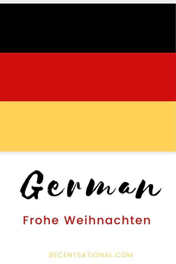 How to say Merry Christmas in German