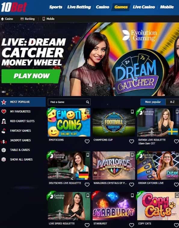10Bet.com Casino Review