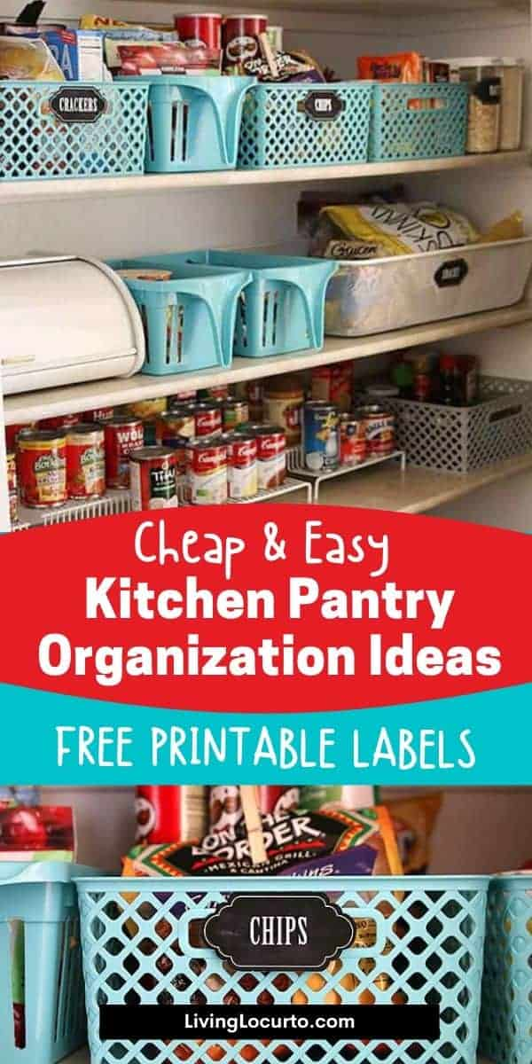 Cheap and Easy Kitchen Pantry Organizing Ideas