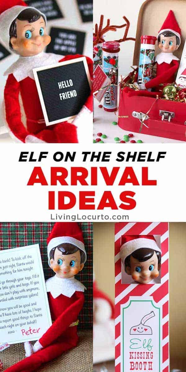 Best Elf on the Shelf Arrival Ideas! Cute Printables to help make Christmas easier. LivingLocurto.com