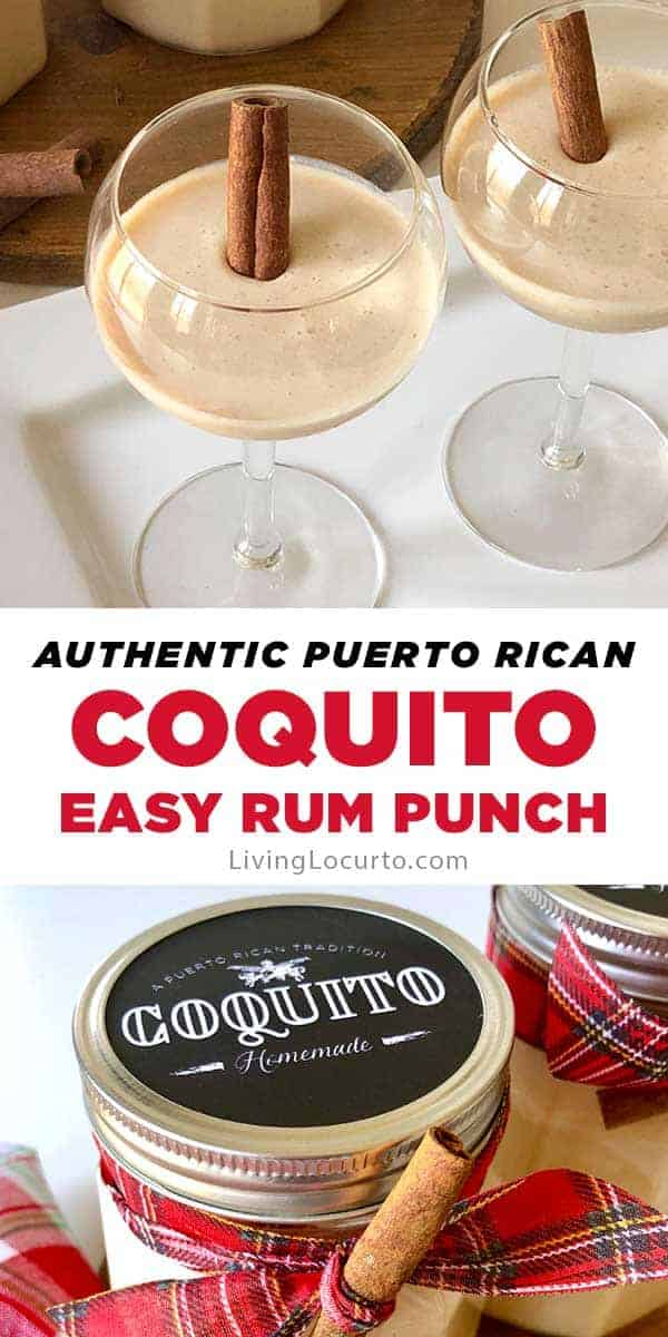 How to make Coquito, a delicious coconut and rum punch originated in Puerto Rico. This authentic Puerto Rican drink recipe is the best dessert cocktail.