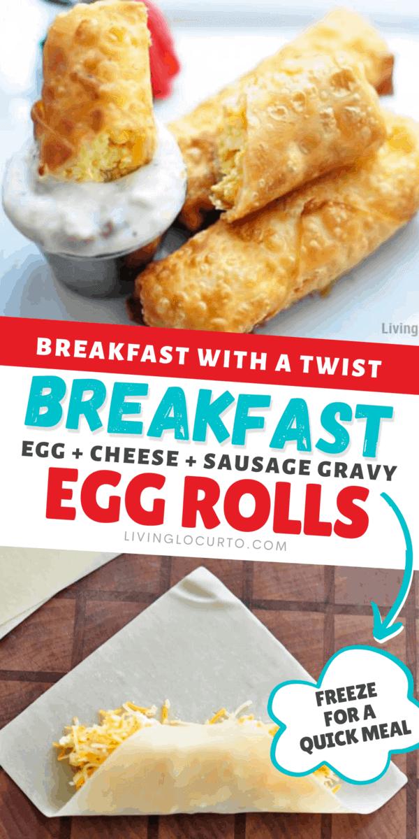 Easy Breakfast Egg Rolls Recipe