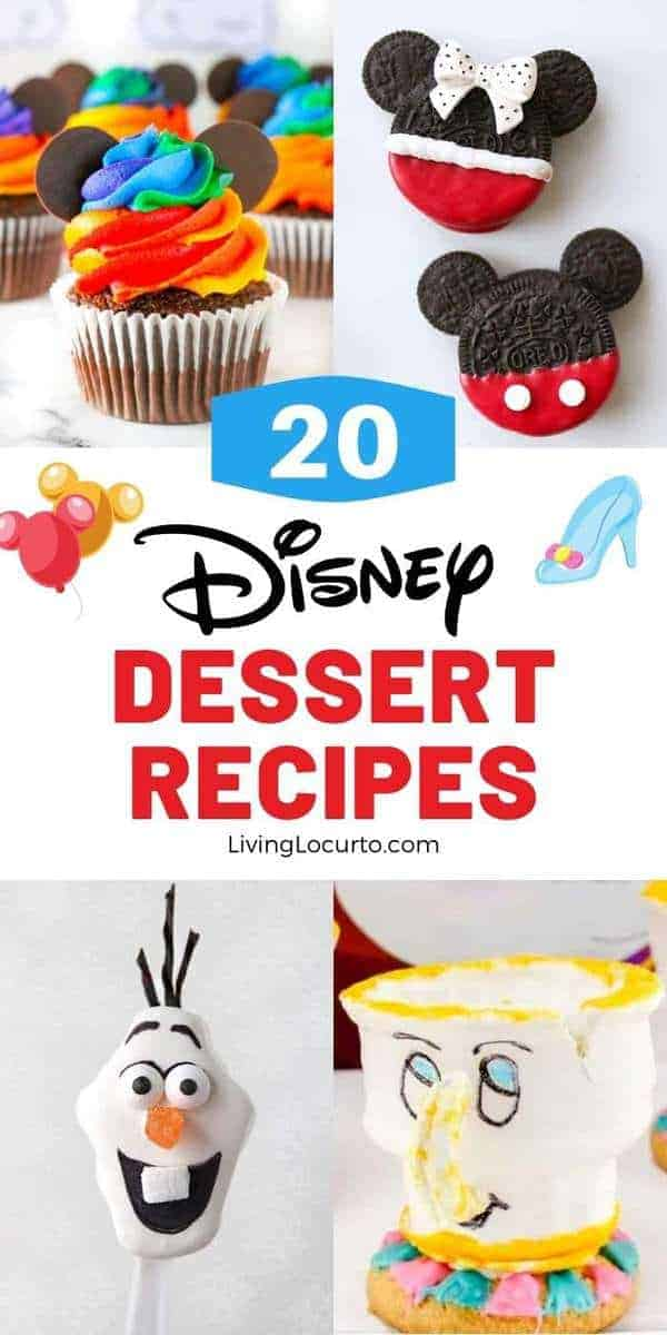 A collection of cute Disney desserts