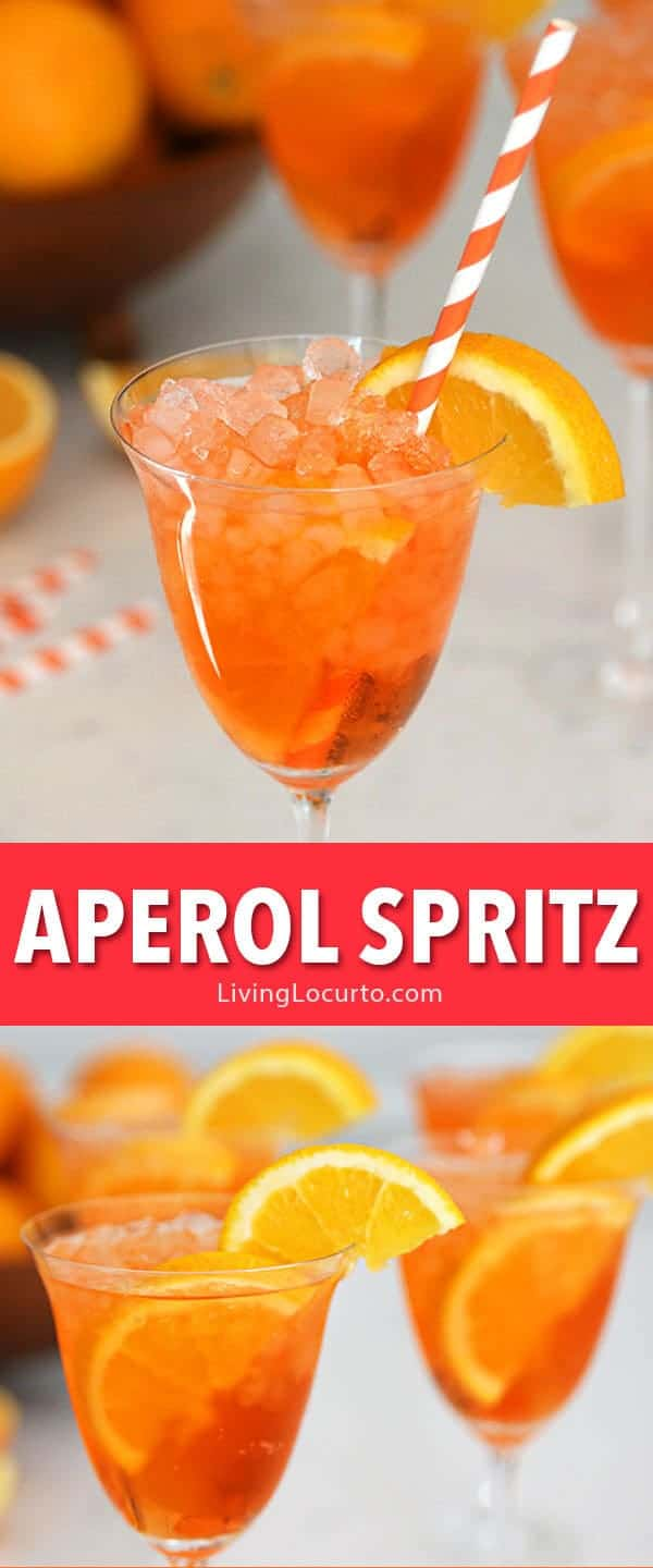 Aperol Spritz recipe is an easy skinny low calorie cocktail drink! A refreshing low calorie sparkling Italian cocktail perfect for any occasion! A delicious combination of sweet prosecco with bitter citrus flavors garnished with orange slices. #cocktails #drinks