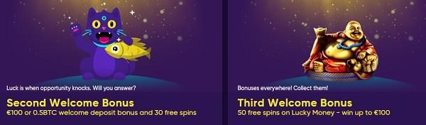 Enjoy 2nd & 3rd deposit bonus