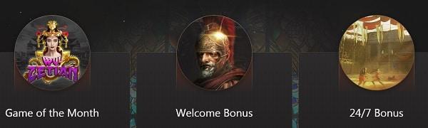 Slots Empire games, welcome bonus, support