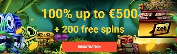 Zet Casino bonus and free spins