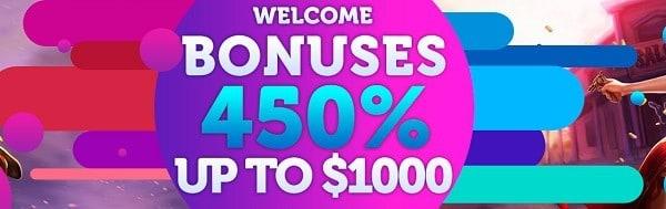 450% Welcome Bonus