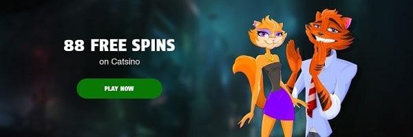 88 free spins on Catsino